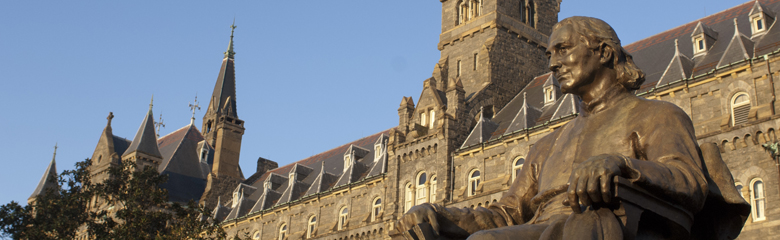 Campus Statue at Healy Hall, Georgetown University